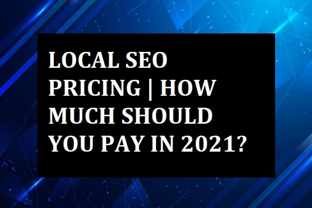 what should be local seo pricing