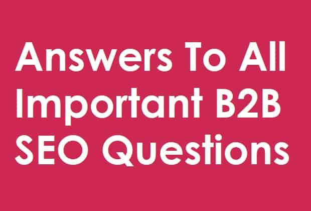 answers to b2b seo questions